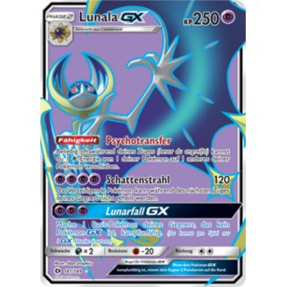 Lunala GX 141/149 FULL ART DE
