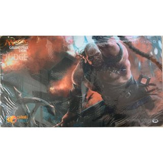 Magic the Gathering Grand Prix Lyon Judge Playmat Headstrong brute
