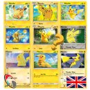 10 Pikachu Cards incl. 1 Foil (randomly chosen- Pokemon -...