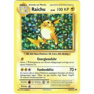 Raichu 36/108 Holo Evolution DE