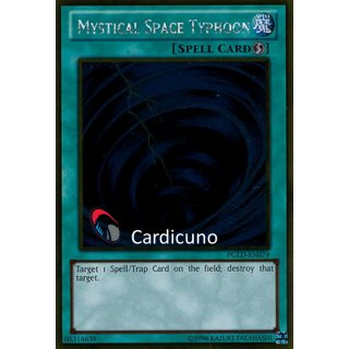Mystical Space Typhoon, EN, Gold Rare, Yugioh!
