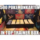 500 gemischte Pokemon Karten Sammlung in Top Trainer Box...