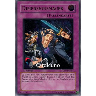 Dimensionsmauer, GOOD DE 1. Auflage, Ultimate Rare, Yugioh!